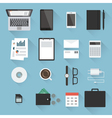 Business desktop objects vector image vector image