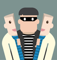 Character thief in good person vector image