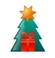 christmas gift icon vector image vector image