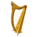 Classic gold sparkle harp cartoon style vector image vector image