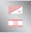 creative business card with traditional ornament vector image vector image