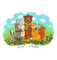 cute animals forest vector image vector image