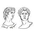 david s head period renaissance vector image