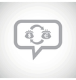 Dollar euro exchange grey message vector image vector image