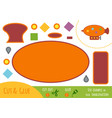 Education paper game for children airship