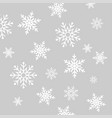 falling snowflakes winter background merry vector image vector image
