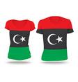 Flag shirt design of Libya vector image vector image
