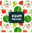 food pattern apple watermelon background im vector image