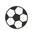football ball icon simple outline style sport vector image