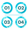 four buttons with numbers vector image