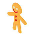 gingerbread man icon isometric 3d style vector image vector image