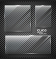 glass plates set vector image vector image