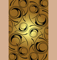 golden background black circles on a gold vector image vector image