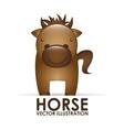 horse cute vector image vector image