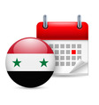 Icon of national day in syria vector image vector image