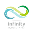 infinity Logo Business Company Corporate letter S vector image