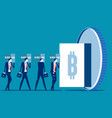 invest in bitcoin bitcoin transactions are stored vector image
