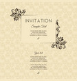 invitation card in an old-style brown color vector image vector image