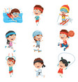 kids making sport vector image vector image