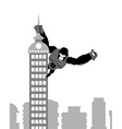 King Kong on building Strong big gorilla keeps vector image vector image