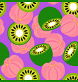 kiwi and fern pattern vector image vector image