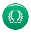 laurel wreath icon green vector image