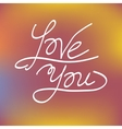 Love you greeting card concept vector image vector image