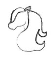 magical unicorn icon vector image vector image