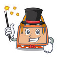 magician hand bag mascot cartoon vector image vector image