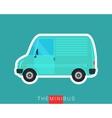Mini van isolated vector image