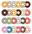modern flat style icons colorful donuts vector image