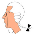 nobleman with glasses on white background vector image vector image