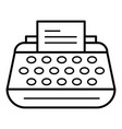 office typewriter icon outline style vector image