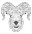 Ornamental head of goat or ram vector image vector image