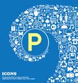 parking sign symbol Nice set of beautiful icons vector image