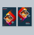 red brochure cover background design corporate vector image vector image