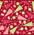 retro christmas seamless pattern background vector image vector image
