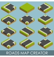 Roads map creator Isometric vector image vector image