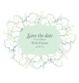 Save the date wedding invite card template vector image