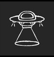 science fiction chalk white icon on black vector image