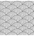 seamless pattern of leaves black and white vector image vector image