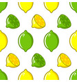 seamless pattern with lemon and lime vector image vector image
