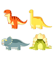 Set of colourful dinosaurs vector image vector image