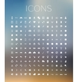 Set of icons on blurred background vector image