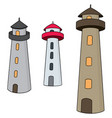 set of lighthouse vector image vector image