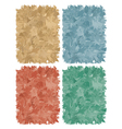 set of multicolored abstract backgrounds vector image
