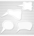 set of speech bubbles vector image vector image