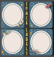 space labels vector image vector image