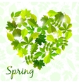 spring background from leaves vector image vector image