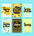 spring trendy hipster posters vector image vector image
